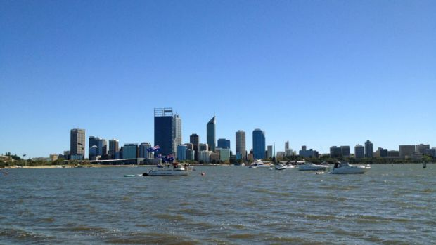 Australia Day celebrations on the Swan River.
