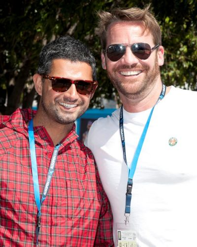 "Which sport has the hottest players? ""Tennis! Hello?"" Anthony Roche (right) and Cristian Arredondo at the Australian Open."