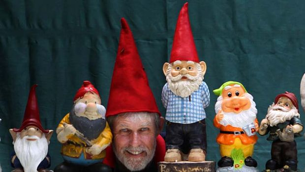 Beard company … David Cook preparing for the Gnome Convention, which attracts more than 2000 gnomes and their handlers.