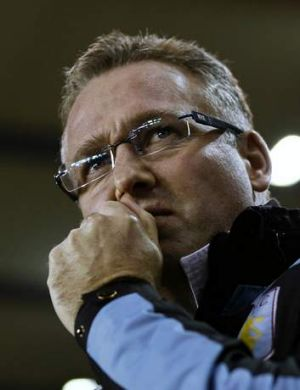 Aston Villa manager Paul Lambert.