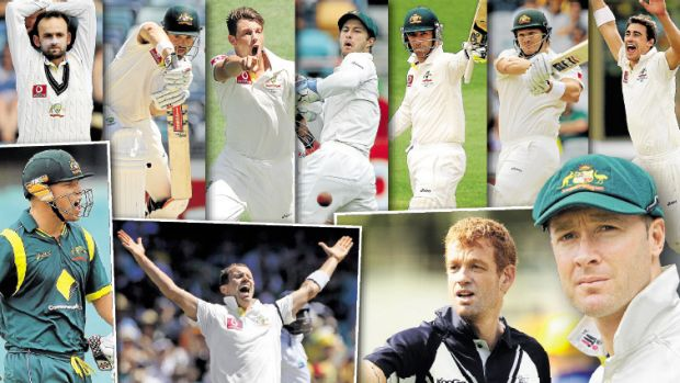If only (clockwise from top left): Nathan Lyon, Ed Cowan, James Pattinson, Matthew Wade, Phil Hughes, Shane Watson, ...