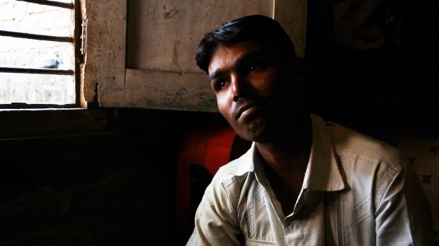 Irshaad Khan at home in Indore, Madhya Pradesh. His father, Azghar Khan, died while he was on a drug trial.