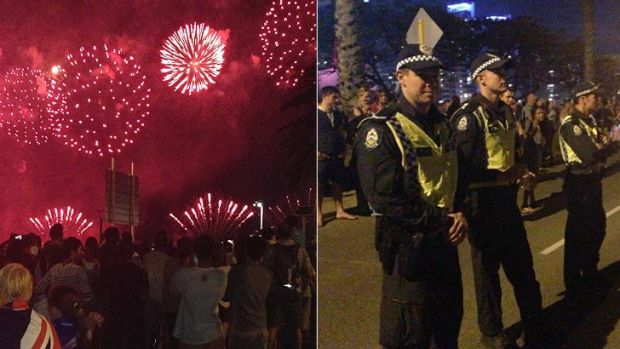 As the crowds enjoyed the Skyworks, police reported a relative quiet time of things up to nightfall. <b>Photo:</b> Robyn ...