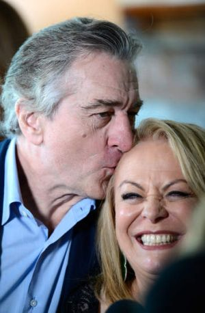 Robert De Niro and Jacki Weaver at the Australian Academy of Cinema and Television Arts awards.