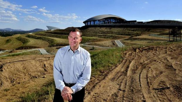 David Marshall of the Canberra Business Council at the National Arboretum. The Arboretum is set to charge $10,000 each ...