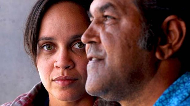 ''I'm just trying to tell the audience about our struggle'' ... Aboriginal playwrights Jada Alberts and Billy McPherson ...