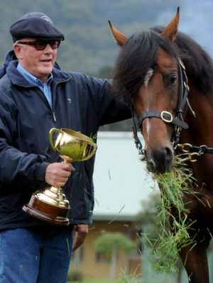 Macedon magic: Lloyd Williams, the Melbourne Cup and Green Moon at the owner's training complex.