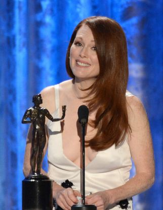 Julianne Moore won a SAG Award for playing Sarah Palin in <i>Game Change</i>.