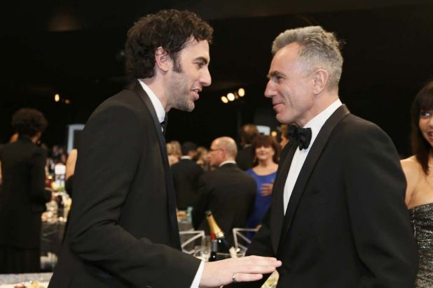 Odd couple: Sacha Baron Cohen and Daniel Day-Lewis.