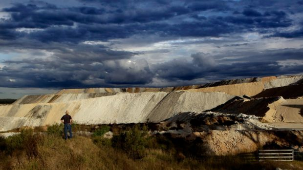Farmer Phil Laird at the Maules Creek  mine near Boggabri in New South Wales.