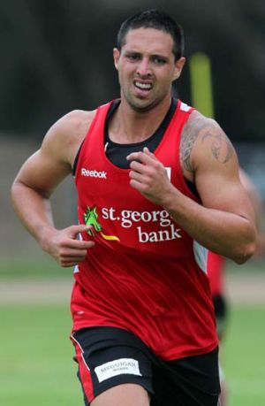 Made the switch ... Gerard Beale left the Broncos for the Dragons.