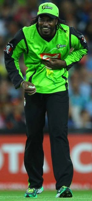 Silent … Chris Gayle.