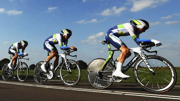 Pedal power … Orica-GreenEDGE anticipate a strong 2013 season.