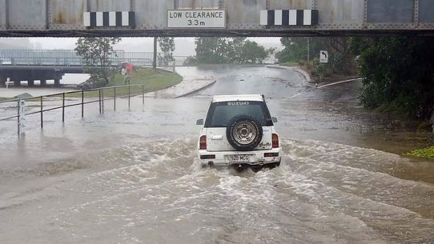 Coffs Harbour ... flash flooding from rising storm water closed roads all over NSW.
