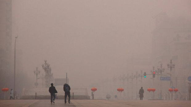 Hazy days ... Smog blankets Beijing in this January 2012 file photo.