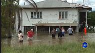 A flooded house in Bundaberg