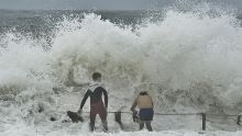 Teenagers brave the heavy surf at Collaroy Beach in Sydney's northern beaches. Tuesday, January 29, 2013 (SMH NEWS) ...