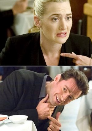 All-star cast ... Kate Winslet and Hugh Jackman.