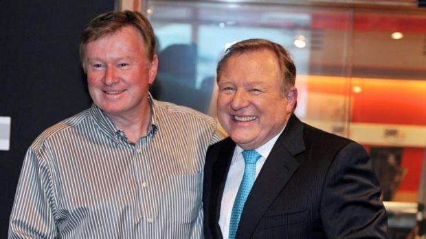 Denis Walter surprises Peter Hitchener with a This Is Your Life-style tribute to the newsreader's four decades at ...