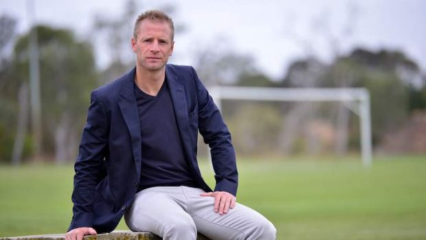 Retiring Melbourne Heart player Vince Grella at training on Tuesday.