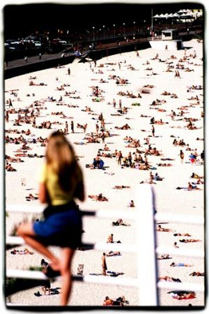 Exposing ourselves to the mix of figures on the beach can only be a good thing. <i>Photo: Steve Baccon.</i>