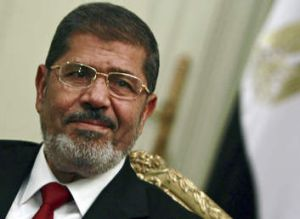 Emergency mode … Mohammed Mursi.