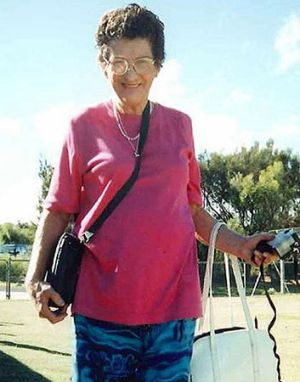 Helen Margaret Bromley, 73, was found in the back yard of her Mandurah home.