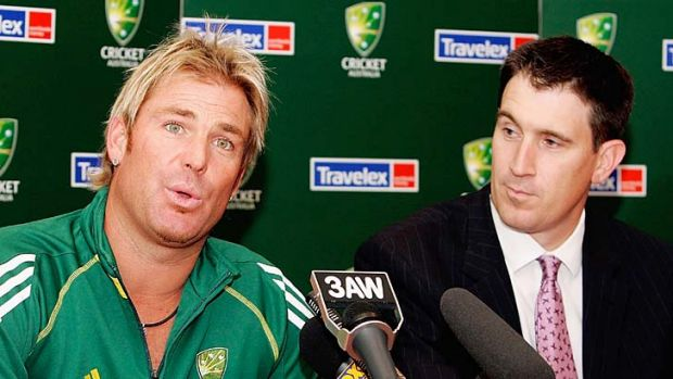 """It's not ideal but Shane is entitled to express his view"" ... James Sutherland, right on Shane Warne's comments."