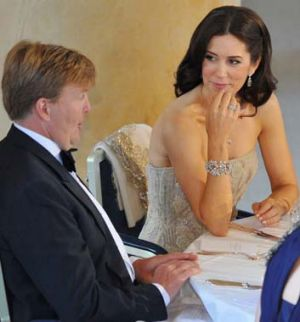 Royal duties ... Crown Prince Willem-Alexander and Crown Princess Mary of Denmark.