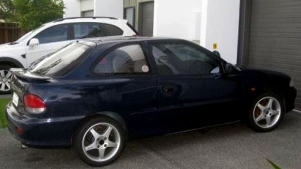 Police are looking for a woman who was driving a Hyundai Excel similar to this one at the time of the attack.