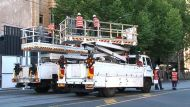 Trams in disarray after truck drags down lines  (Video Thumbnail)