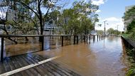 BRISBANE. NEWS. BRISBANE TIMES.Photograph taken by Michelle Smith on Tuesday 29th January, 2013.The Brisbane River ...