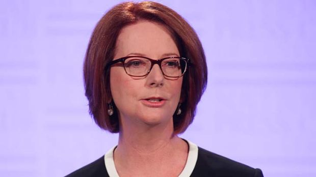 ''It gives shape and order to the year'' … the Prime Minister, Julia Gillard, at the National Press Club on Wednesday.