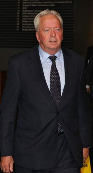 John McGuigan leaving the ICAC after giving evidence on 29 January 2013.