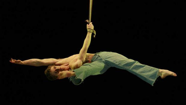 TOUGH MOVES: Lewie West, who performs with Brisbane-based circus Circa, has won a contest in Paris. He specialises in ...