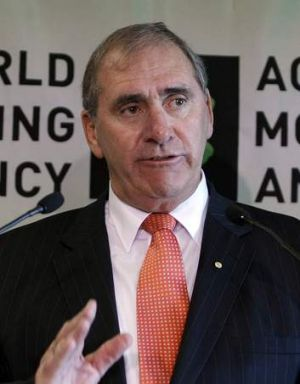 John Fahey, World Anti-Doping Agency chief: ''I have no issue with what the AFL has said. They indicate there's no ...