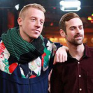 American musician Ben Haggerty, better known by his stage name Macklemore [left] with his producer Ryan Lewis.