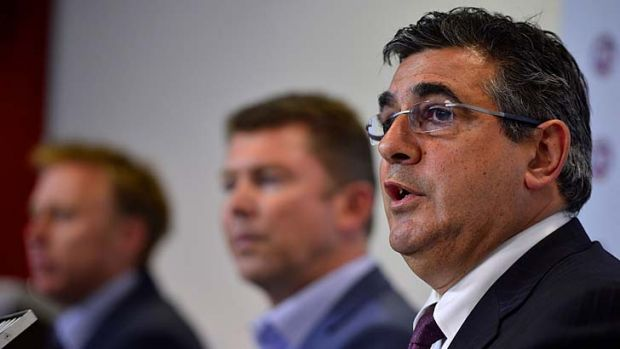 Moving goalposts ... alcohol is AFL chief Andrew Demetriou's No.1 enemy in the code's controversial war against drug use ...