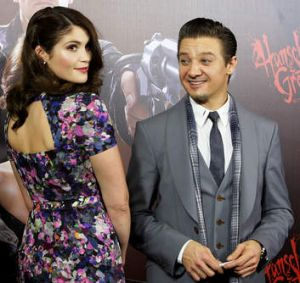 Gemma Arterton and Jeremy Renner.