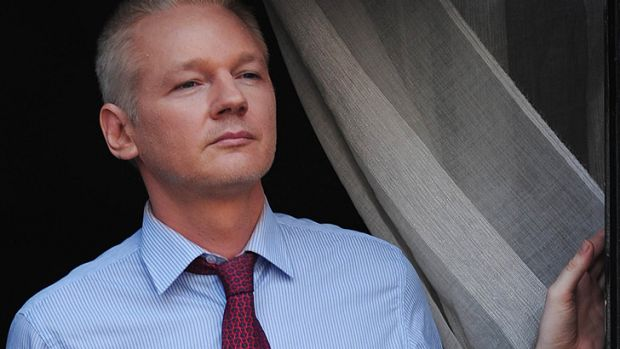 Look out, Senate: Julian Assange is still holed up in Ecuador's embassy in the UK.