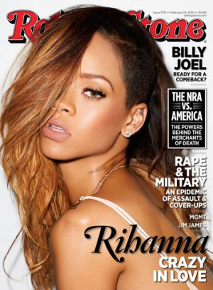 Rihanna on the cover of Rolling Stone.
