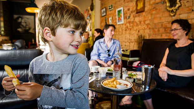 The Ryan family Dennis, Jane, and 4-year-old Hugo, from Braddon, enjoy lunch at the family friendly 'A Bite To Eat' cafe ...