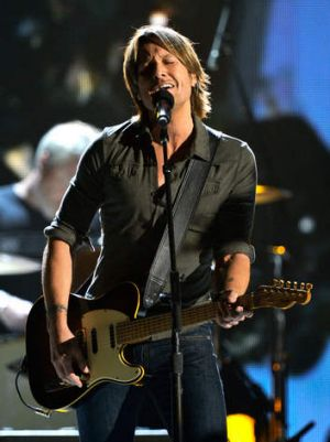 Keith Urban performs at a concert last year.