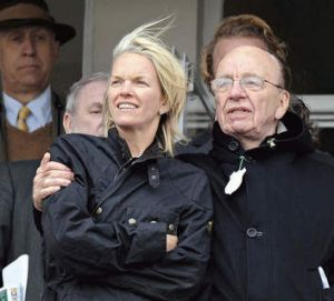 Back in the fold … Elisabeth with Rupert at the Cheltenham Festival races in England in 2010.