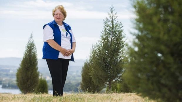 Chair of the Friends of the National Arboretum, Jocelyn Plovits, at the Paran? pine forest.