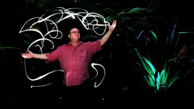 Managing Director of Electric Canvas, Peter Milne, at the Botanic Gardens on Thursday.