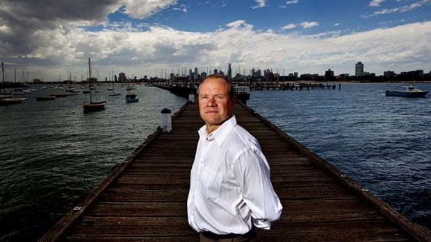 Royal Melbourne Yacht Squadron general manager Rod Austin on the pier.