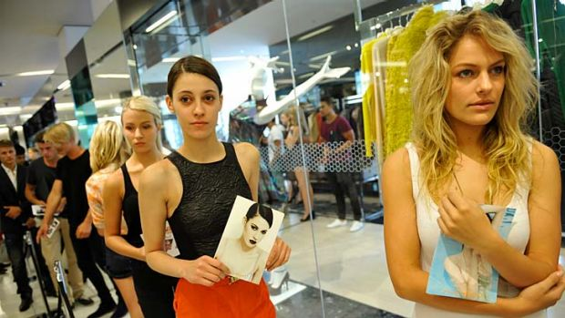 Myer Model candidates wait in hope.
