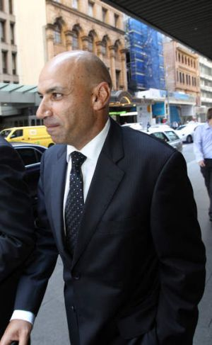 Moses Obeid leaves the ICAC after giving evidence.