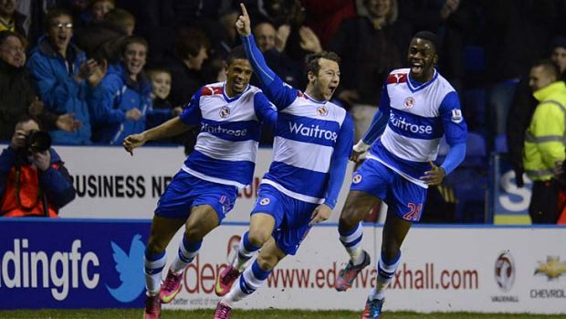 Hot shot: Adam Le Fondre celebrates one of his two goals.